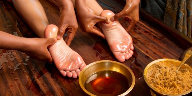 Padabhyanga Ayurveda-Fußmassage