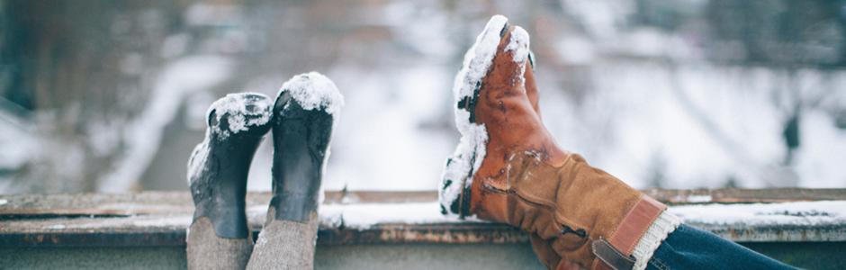 Schöne Füße im Winter